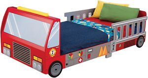 Kids Toddler Bed - Fire Engine Truck Bed - New