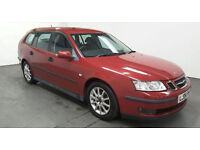 2006(06)SAAB 9-3 1.9CDTi LINEAR SPORT ESTATE RED,CLEAN CAR,GREAT VALUE!