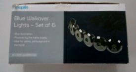 Blue walkover lights set of 6. Collection Thornton heath