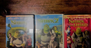 SHREK 1, 2 and 3