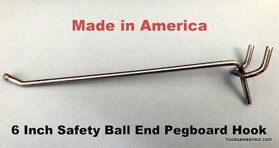 20 Pack 6 Inch All Metal Peg Hooks 18 To 14 Pegboard Slatwall Garage Kit