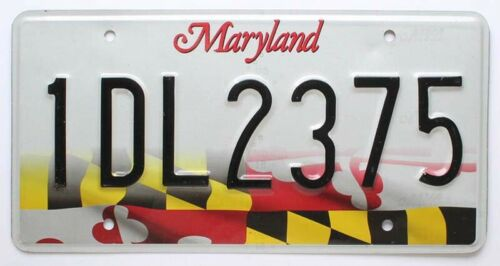 "Maryland ""State Flag"" License Plate in Very Good Condition (RANDOM PLATE NUMBER)"