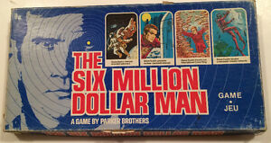 Six Million Dollar Man TV-based Board Game 1975 Parker Brothers