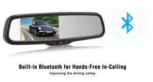AUTO-VOX rear-view mirror with Bluetooth &  Backup camera