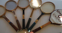 COLLECTABLE VINTAGE WOOD TENNIS RACKETS