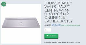 HOME IDOL 4' & 5' SHOWER BASE $149 5%CASHBACK