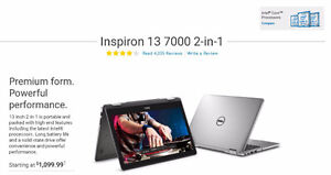 """Dell Inspiron 13 7000 Series 13.3"""" Display Multi-Touch 2-in-1"""
