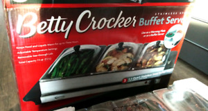 BUFFET TRAY.Great for BBQ! FREE BONUS Commercial Grade Food Pans
