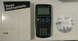 TI-89 Graphing Calculator with case, manual, and software CD