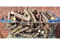 SEASONED KINDLING LOGS BASKET FULL FOR SALE FOR WOOD BURNERS FIRE PITS ETC CONTACT FOR INFO