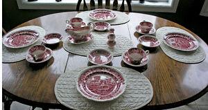 Copeland-SpodesPink Tower Dinner Set (90+Pcs)
