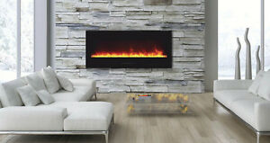 *****BEAUTIFUL FLAMEHAUS ELECTRIC FIRE PLACE WALL & BUILD IN****