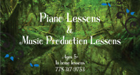 Piano, music theory, GarageBand, Ableton Live lessons