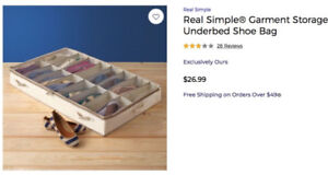 Underbed shoe storage – three available - $5/each