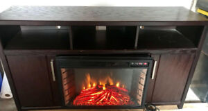 TV AND FIREPLACE UNIT