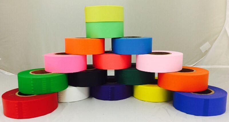 """Flagging Tape 1-3/16"""" Non-Adhesive Plastic Ribbon"""