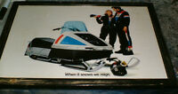 Harley Davidson snowmobile mounted ads/pics - mid 1970's -4 dif.