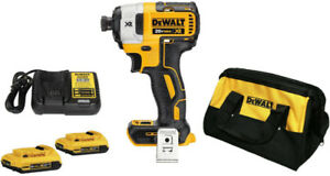 NEW DEWALT KIT DCF887D2 20V MAX XR Brushless Impact Driver