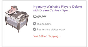 Ingenuity washable play pen deluxe with dream center