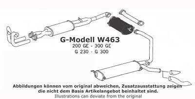 Mercedes Mittelschalldämpfer G-Modell W463 A4634900001 A4634902001 200 230 300GE