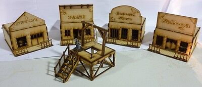 TTCombat - Wild West Scenics - Town Buildings & Gallows, great for Malifaux