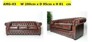 Brand New Chesterfield Oxblood LTH  SET (3+2+1). Oxley Brisbane South West Preview