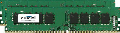Crucial 16GB Kit 2x 8GB DDR4 2400 Mhz PC4-19200 Desktop Memory DIMM 288-pin