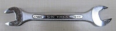 Sk 8217 Forged Alloy Open End Wrench 17mm X 19mm Made In Usa