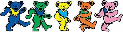 Dancing Bears Grateful Dead Head Vinyl Decal Set 12