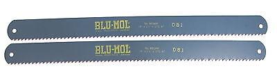 2 Nos Millers Falls 18 X1-12 X.075 4t Blu-mol Hs Power Hacksaw Blade 8604m