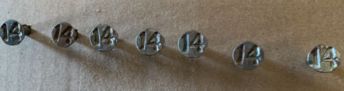 Vintage Railroad Tie Date Nails Spike Train Track Numbered Raised Nail