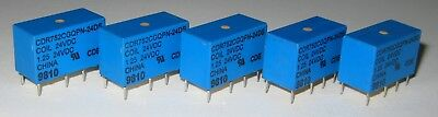 5 X Mini 24v Coil Dpdt 1.25a Relay - Small 24 V Dc Pc Mount Dip Relays - Cdr752