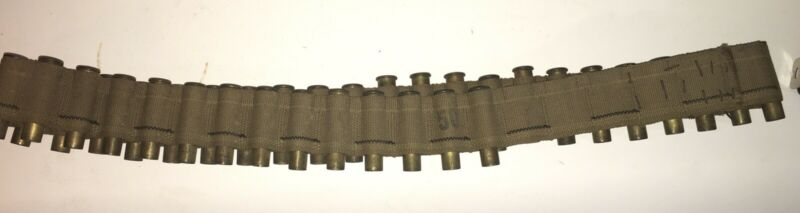 Antique US Army 45-70 Bandolier Single Row w 35+ Spend Cartridges Belt