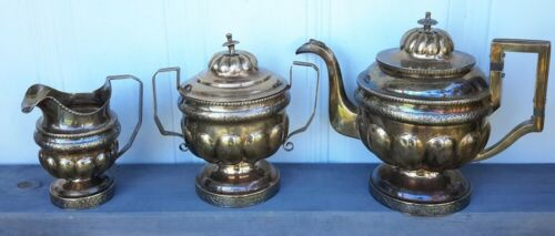 Coin Silver Coffee Tea Partial Set By N Taylor New York. 1767grams