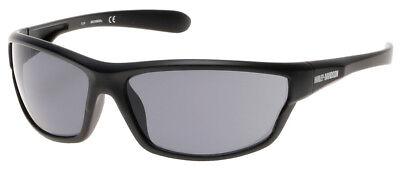 (Harley-Davidson Men's Plastic Wrap H-D Sunglasses, Black Frame & Smoke Gray Lens)