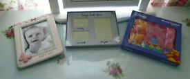 bundle of BABY PHOTO FRAMES brand new