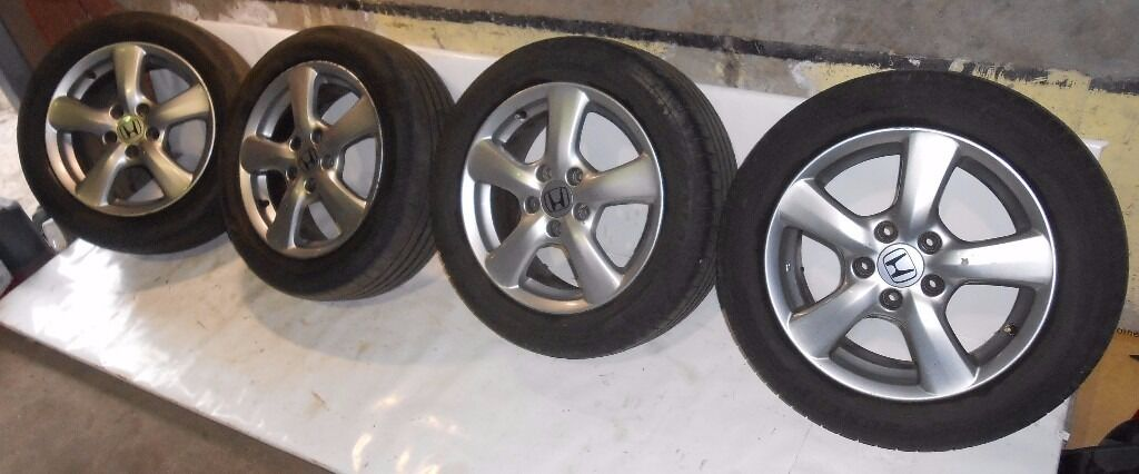 Honda Civic 16'' Genuine ALLOY WHEELS AND TYRES 205/55/16 5x114.3