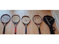 4 tennis rackets for £10