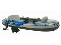Intex Excursion 4 4 Person Inflatable Boat
