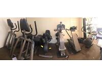Technogym / pulse ,full gym 9 machines including bodysolid multi gym, cardio wave, hand bike,