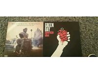My chemical romance greatest hits. And american idiot green day vinyls.