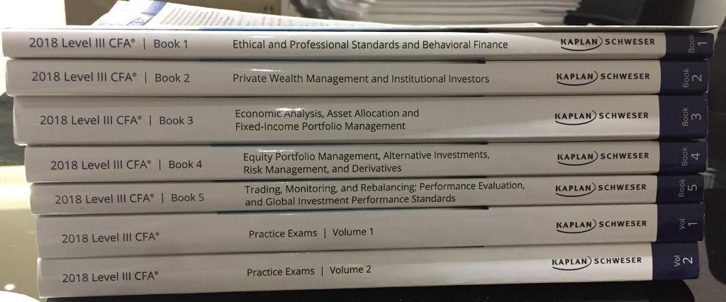2018 CFA Level 3 Schweser books | in Canary Wharf, London | Gumtree