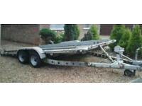 BRIAN JAMES TWIN AXLE TULT BED RECOVERY CAR AND VAN TRAILER 14' X 6'3 BED
