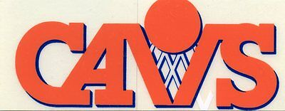 VINTAGE CLEVELAND CAVS  CAVALIERS  STICKER 1990'S TEAM ISSUE  MINT CONDITION