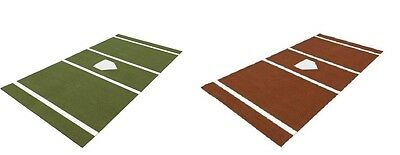 Baseball Home Plate Mat Turf Batting Cage Mats, Green or Clay, Multiple Sizes Turf Home Plate Mat