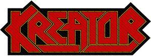 Kreator Logo Cut Out Patch  (SP2866)Kreator Logo Aufnäher Gewebt & Lizenziert !!