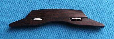 Grover Deluxe 2 Piece Adjustable Wood Guitar Bridge f/ Archtop Guitar, 7926