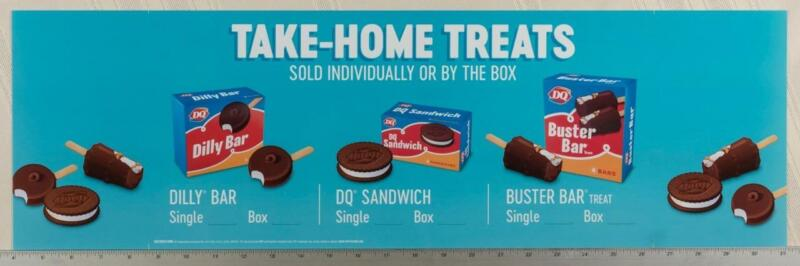 Dairy Queen Poster Backlit Plastic Take Home Treats 8x27 dq2