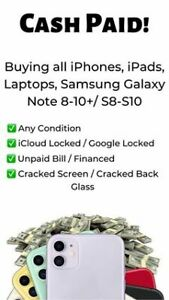 Paying Cash For Used, Locked, Blacklisted Or Damaged Phones!