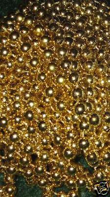 5 DOZEN (60) GOLD MARDI GRAS BEADS NECKLACES-PARTY FAVORS-FREE SHIPPING! - Mardi Gras Wholesale